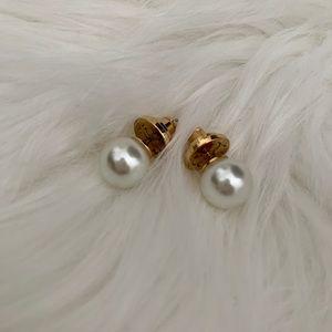 Tory Burch Faux Pearl Earrings